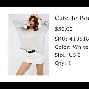 Too cute to boot mini skirt